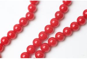 Бусины пластиковые 10 мм, красные