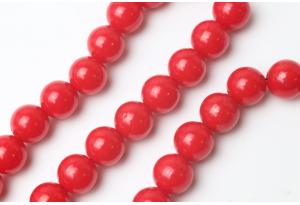 Бусины пластиковые 12 мм, красные