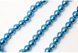 Бусины гальваника 8 мм, синие