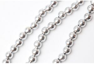Бусины гальваника 8 мм, серебро