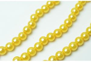 Бусины пластиковые 8 мм, темно-желтые