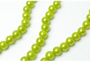 Бусины пластиковые 8 мм, оливковые
