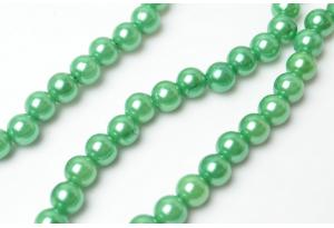Бусины пластиковые 8 мм, зеленые