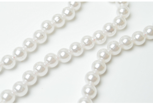 Бусины пластиковые 8 мм, белые