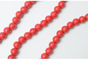 Бусины пластиковые 8 мм, красные