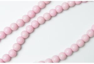 Бусины пластиковые 8 мм, светло-лиловые