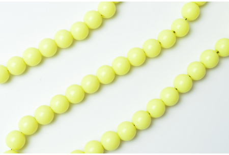 Бусины пластиковые 8 мм, желтые