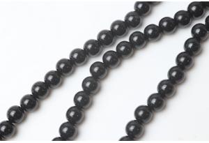 Бусины пластиковые 8 мм, черные