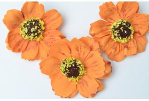 Бутон мака (фоамиран), 4 см, оранжевый