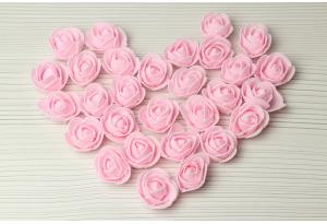 Бутон розы из латекса, 3 см, розовый
