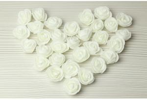 Бутон розы из латекса, 3 см, айвори