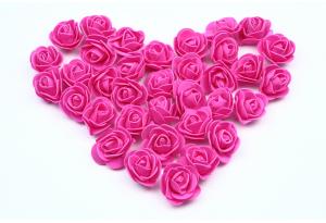 Бутон розы из латекса, 3 см, фуксия
