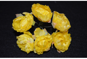 Пионы, 2-3 см, желтые, в пучке 6 цветков