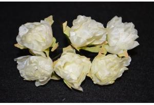 Пионы, 2-3 см, айвори, в пучке 6 цветков