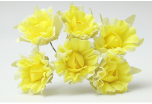 Цветы Гвоздика, 2,5 см, желтая, в пучке 6 цветков
