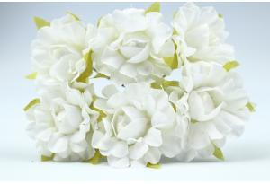 Цветы Гвоздика, 2,5 см, белая, в пучке 6 цветков