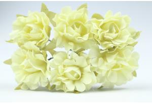 Цветы Гвоздика, 2,5 см, кремовая, в пучке 6 цветков