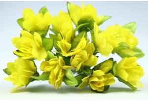 Цветы Подснежник, 2.5x1.5 см, желтый, в пучке 11-12 цветков