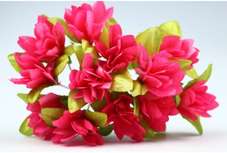 Цветы Подснежник, 2.5x1.5 см, малиновый, в пучке 11-12 цветков