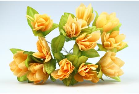 Цветы Подснежник, 2.5x1.5 см, оранжевый, в пучке 11-12 цветков