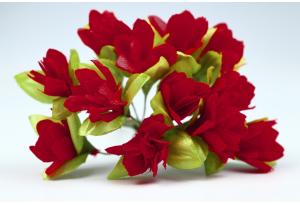 Цветы Подснежник, 2.5x1.5 см, бордовый, в пучке 11-12 цветков