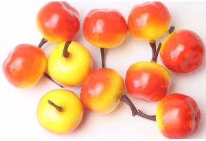 Фрукты, яблоко, 2.5 см, желто-красное
