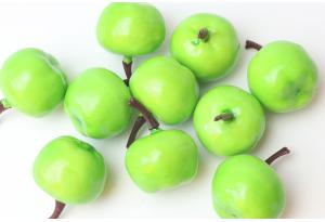 Фрукты, яблоко, 2.5 см, зеленое