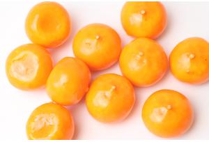 Фрукты, мандарин, 3 см, оранжевый