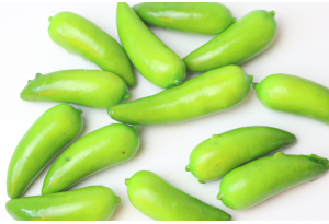 Фрукты, перчик, 4 см, зеленый