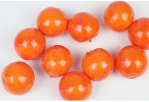 Фрукты, апельсин, 3,5 см, темно-оранжевый