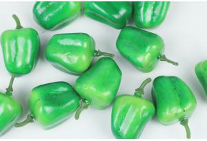 Фрукты и овощи, перец сладкий, 5 x 3 см, зеленый