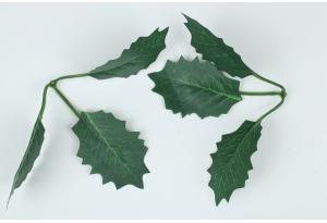 Листики декоративные (мини роза), зеленые, 16x12,5 см №6