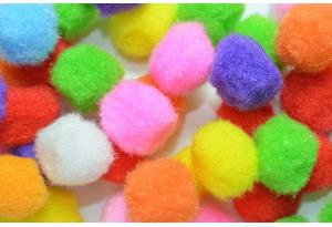 Помпоны, 20 мм, цветной микс