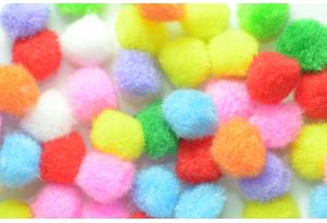 Помпоны, 15 мм, цветной микс