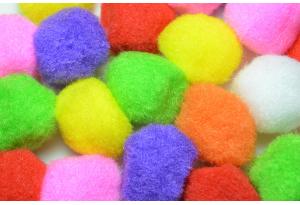 Помпоны, 30 мм, цветной микс