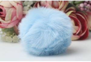Помпон (бубон), 50 мм, эко мех, голубой