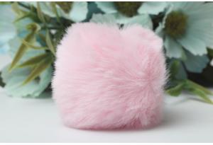 Помпон (бубон), 50 мм, эко мех, розовый