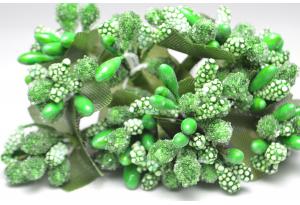 Веточка, тычинки летние, темно-зеленые, в пучке 12 веточек