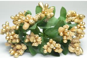 Веточка, тычинки летние, золотые, в пучке 12 веточек