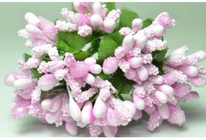 Веточка, тычинки летние, розовые, в пучке 12 веточек