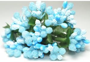 Веточка, тычинки летние, голубые, в пучке 12 веточек