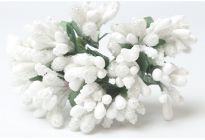 Веточка, тычинки летние, белые, в пучке 12 веточек
