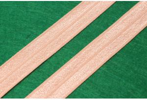 Бейка-резинка (лента стрейч), 1.5 см, персиковая