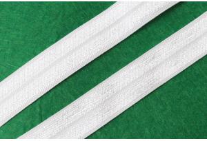 Бейка-резинка (лента стрейч), 1.5 см, белая