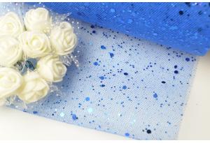 Фатин с крупными блестками, 15 см, синий