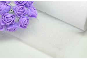 Фатин с мелкими блестками, 15 см, белый