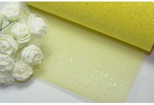 Фатин с мелкими блестками, 15 см, желтый