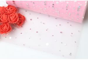 Фатин с кнопочкой, 14 см, розовый