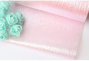 Фатин перламутровый, 14 см, розовый