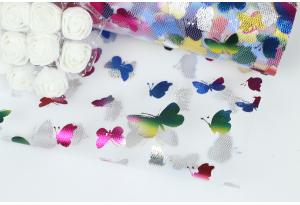 Фатин с бабочками, 15 см, белый